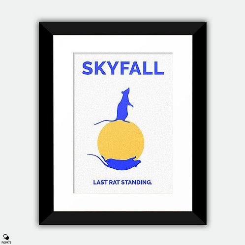 Skyfall Minimalist Framed Print