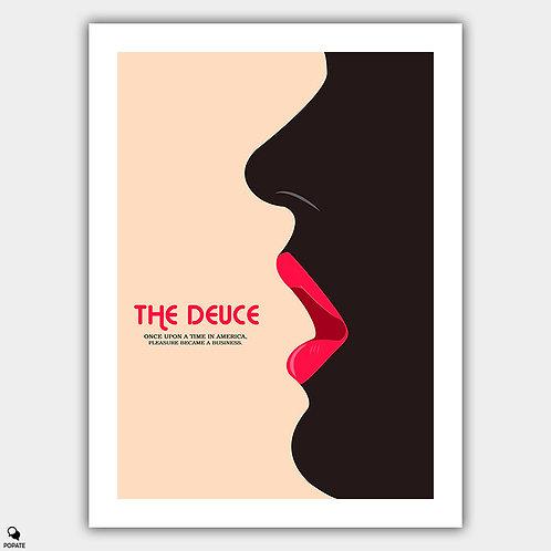 The Deuce Minimalist Poster - Lips