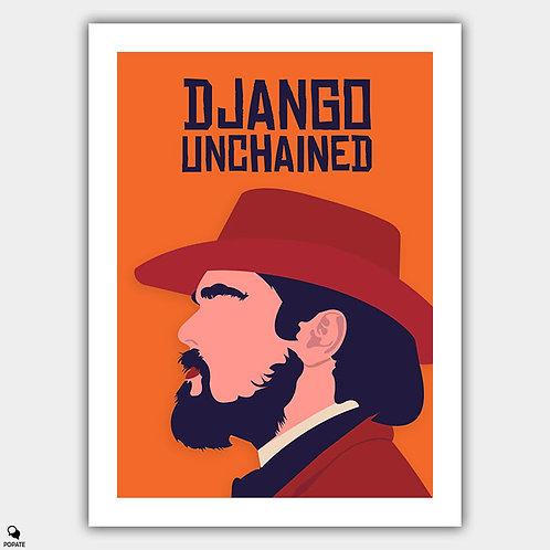 Django Unchained Minimalist Poster - Calvin Candie