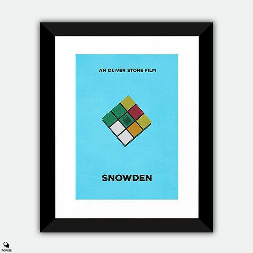 Snowden Minimalist Framed Print