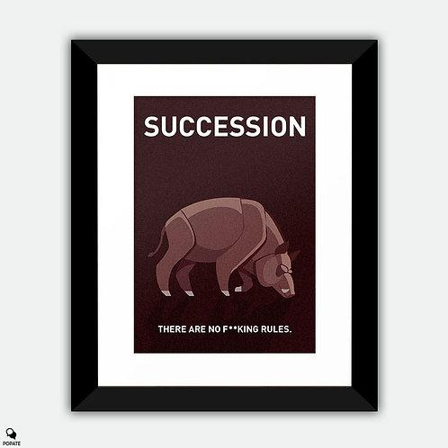 Succession Minimalist Framed Print - Boar on the Floor
