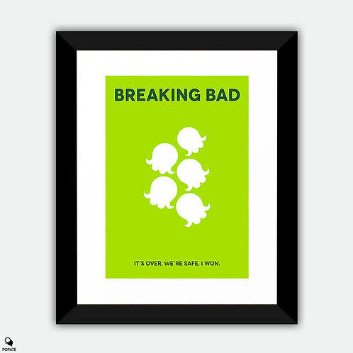 Breaking Bad Minimalist Framed Print - Lily of the Valley