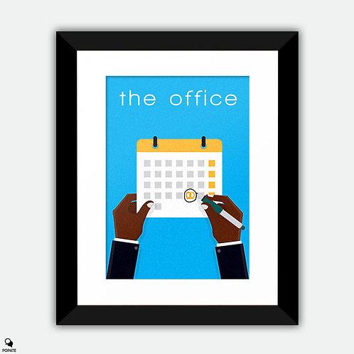 The Office Minimalist Framed Print - Pretzel Day