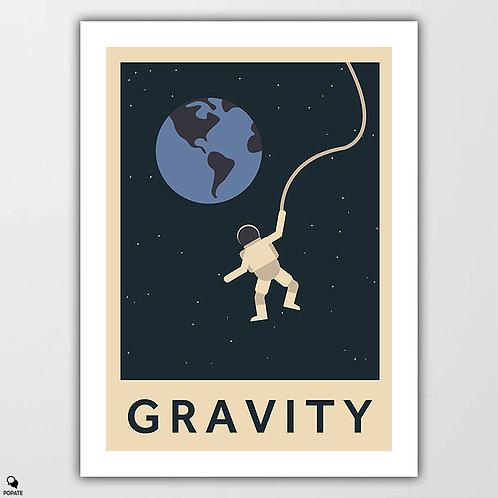 Gravity Minimalist Poster