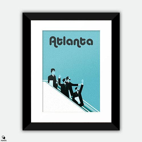 Atlanta Minimalist Framed Print - Beatles mashup