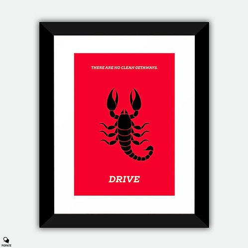 Drive Minimalist Framed Print