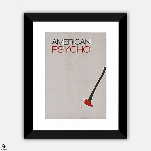 American Psycho Minimalist Framed Print - Disappearance of Paul Allen