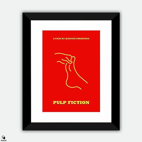 Pulp Fiction Minimalist Framed Print - Foot Massage
