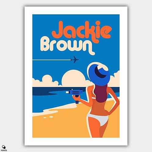 Jackie Brown Alternative Poster - Chicks Who Love Guns