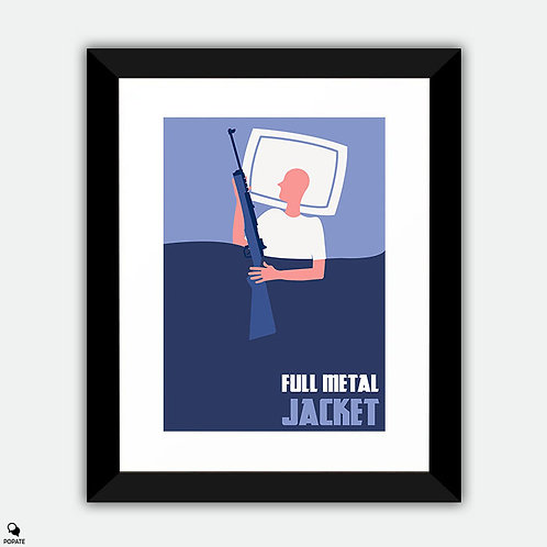 Full Metal Jacket Minimalist Framed Print #2