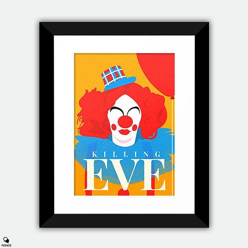 Killing Eve Minimalist Framed Print - Clown
