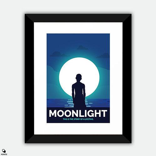 Moonlight Alternative Framed Print - Blue