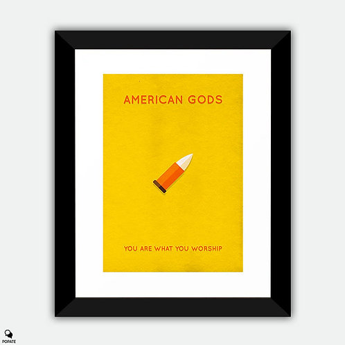 American Gods Minimalist Framed Print - Vulcan