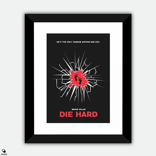 Die Hard Minimalist Framed Print - Broken Glass