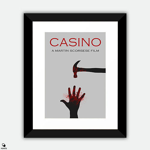 Casino Minimalist Framed Print