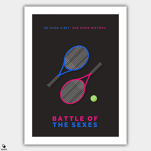 Battle Of The Sexes Minimalist Poster