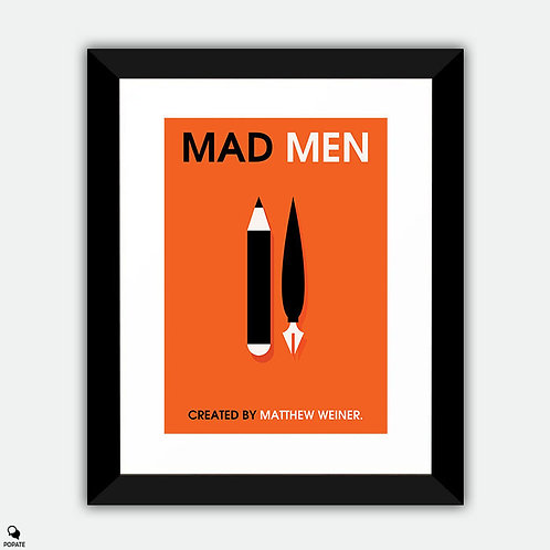 Mad Men Minimalist Framed Print - Creative and Executive