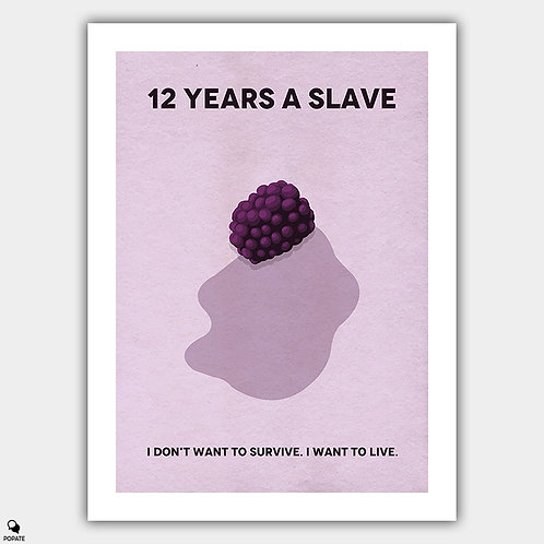12 Years A Slave Minimalist Poster - Berry