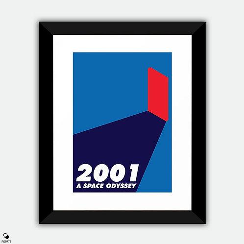 2001: A Space Odyssey Minimalist Framed Print - Monolith
