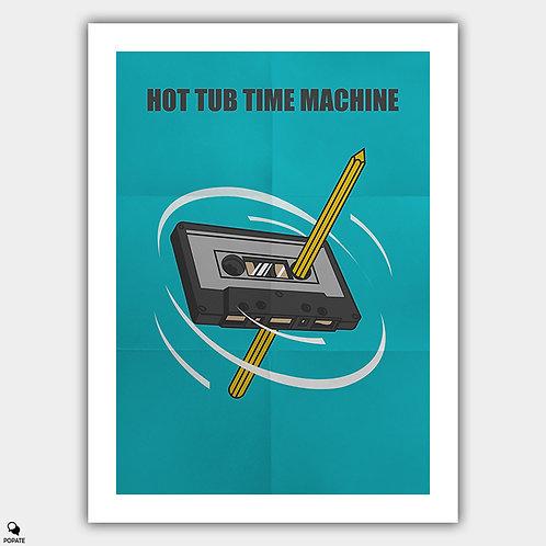 Hot Tub Time Machine Alternative Poster - 80's Rewind