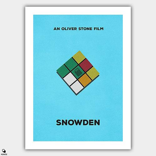 Snowden Minimalist Poster