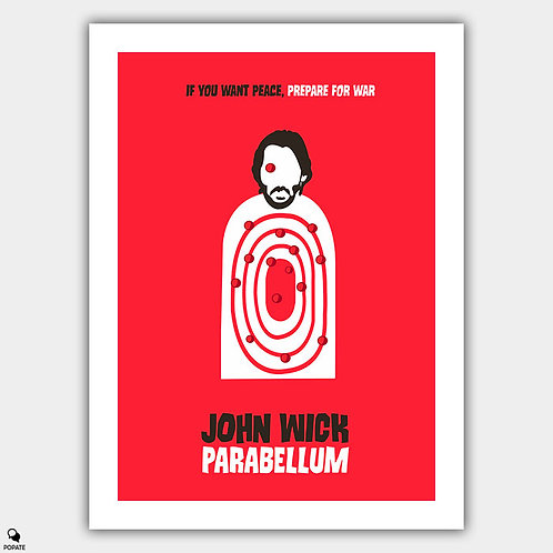 John Wick Parabellum Minimalist Poster