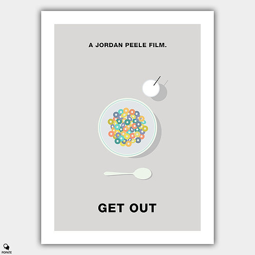 Get Out Minimalist Poster - Milk and Cereal