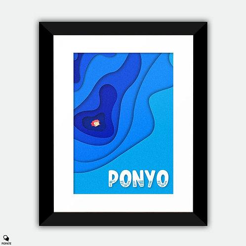 Ponyo Minimalist Framed Print