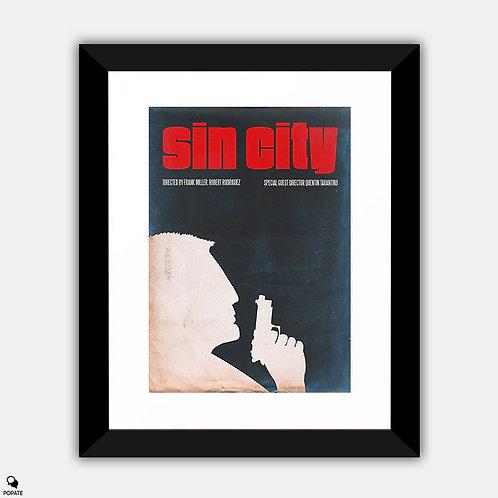 Sin City Vintage Minimalist Framed Print