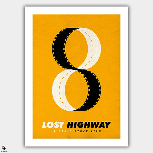 Lost Highway Minimalist Poster - Remember things my own way