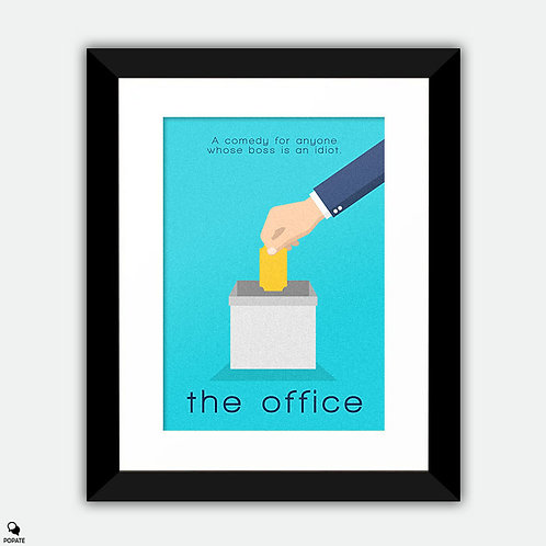 The Office Minimalist Framed Print - Golden Ticket
