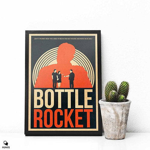Bottle Rocket Vintage Alternative Framed Print