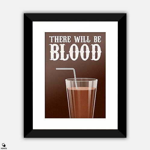 There Will Be Blood Minimalist Framed Print