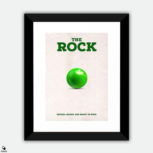 The Rock Minimalist Framed Print