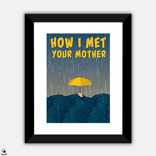 How I Met Your Mother Minimalist Framed Print - Umbrella