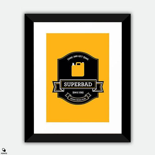 Superbad Alternative Framed Print - Label