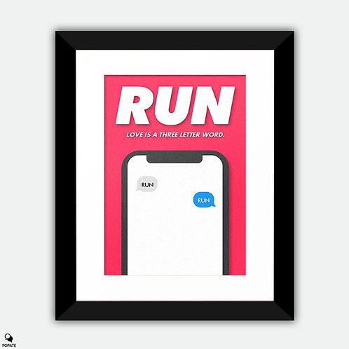Run Minimalist Framed Print