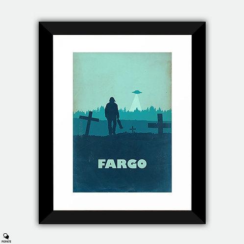 Fargo Vintage Abstract Framed Print - Ohanzee