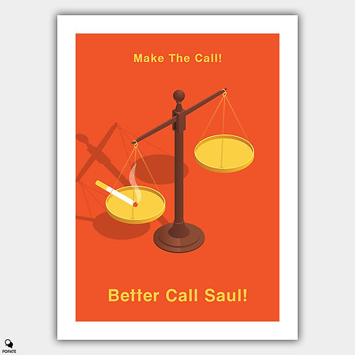 Better Call Saul Minimalist Poster - Scales