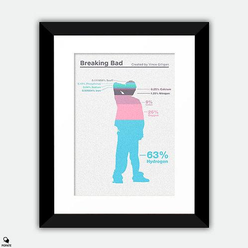 Breaking Bad Minimalist Framed Print - Composition of Jesse