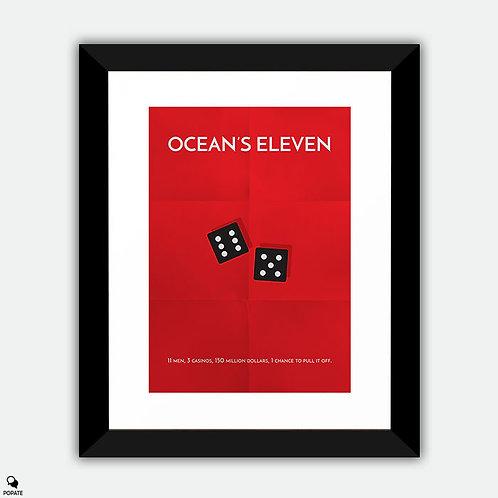 Ocean's Eleven Minimalist Framed Print