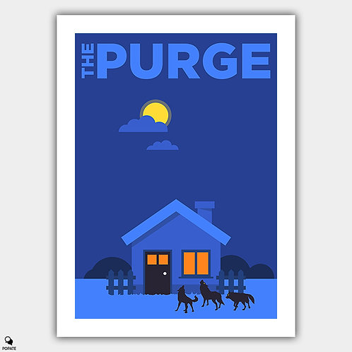 The Purge Alternative Minimalist Poster