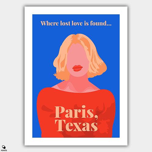 Paris, Texas Minimalist Alternative Poster