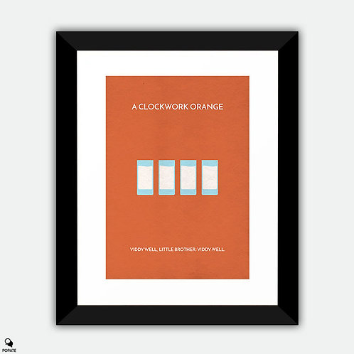 A Clockwork Orange Minimalist Framed Print - Moloko Plus