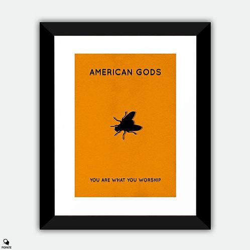 American Gods Minimalist Framed Print - Laura