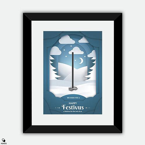 Seinfeld Minimalist Framed Print - Happy Festivus