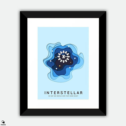 Interstellar Minimalist Framed Print