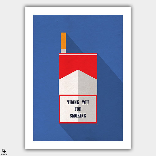 Thank You For Smoking Minimalist Poster