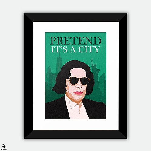 Pretend It's A City Minimalist Framed Print