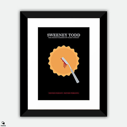 Sweeney Todd: The Demon Barber Of Fleet Street Minimalist Framed Print
